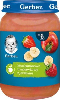 Gerber deserek mus bananowo- truskawkowy z jabłuszkami