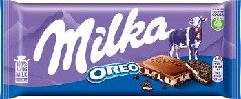 Milka for you Oreo  czekolada mleczna z kremem waniliowym i pokruszonymi kawałkami ciasteczek Oreo