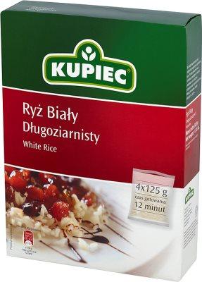 Kupiec ryż biały długoziarnisty 4 torebki po 125g