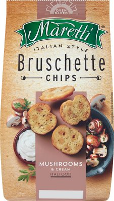 Bruschetta Maretti chrupki chlebowe grzyby ze śmietanką