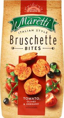 Knäckebrot Bruschetta Tomaten, Oliven und Oregano
