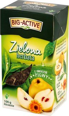 feuilles de thé vert de fruit de coing