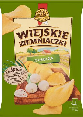 Wiejskie Ziemniaczki chipsy ziemniaczane Cebulka z ogródka