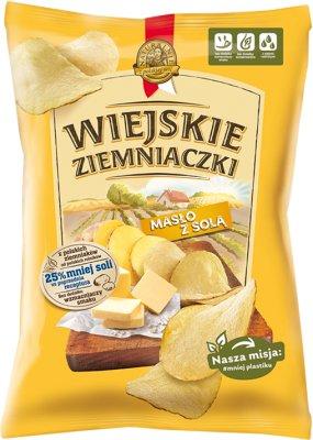 Wiejskie Ziemniaczki chipsy ziemniaczane Masło z solą