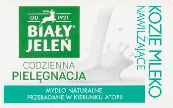 Biały Jeleń Premium mydło w kostce naturalne hipoalergiczne  z kozim mlekiem i lnem