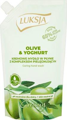 Luksja creamy mydło zapas oliwka z oliwek i aloes