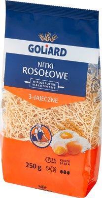 Goliard makaron Nitki Rosołowe 3-Jajeczne Wałkowany 100% pszenica durum
