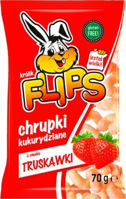 Flips chrupki kukurydziane o smaku świeżej truskawki