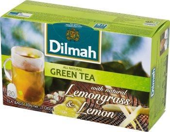 зеленый чай с лимонной травой и ароматом лимона