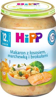 HiPP Makaron z łososiem marchewką i brokułami