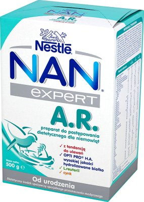 Nestle NAN Expert A.R. mleko dla niemowląt z tendencją do ulewania
