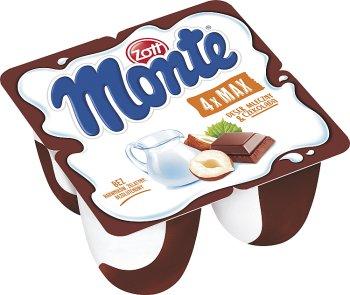 Zott Monte Max deser mleczny 4 kubeczki