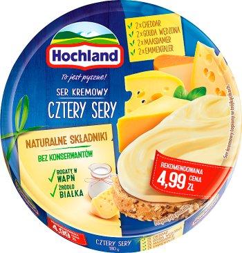Hochland serek topiony, 8 trójkątnych porcji cztery sery
