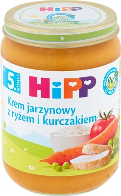 Hipp krem ryżowo-jarzynowy z kurczakiem BIO