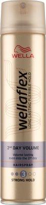 Wellaflex mocno utrwalający lakier do włosów 250ml Większa objętość