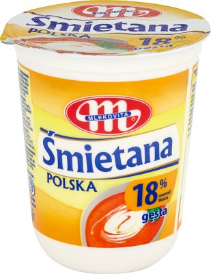 Mlekovita Śmietana Polska gęsta 18%