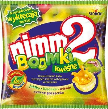nimm2 żujki kwaśne Rozpuszczalne kulki strzelające sokiem wzbogacone witaminami