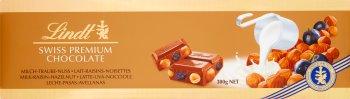 Lindt Gold Szwajcarska mleczna czekolada z rodzynkami i orzechami laskowymi