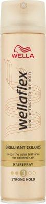 Wella Wellaflex Lśniący kolor Mocno utrwalający lakier do włosów