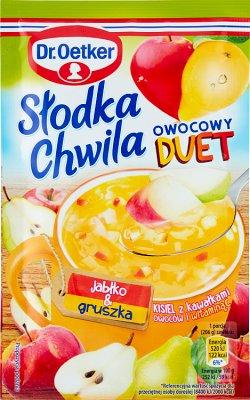 Dr. Oetker Słodka Chwila Kisiel z kawałkami owoców smak jabłkowo-gruszkowy 31,5 g