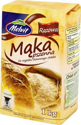 Melvit Mąka pszenna razowa do wypieku domowego chleba