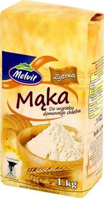 harina de centeno para la cocción de pan casero