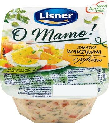 Lisner Salateria Sałatka warzywna z jajkiem 150 g