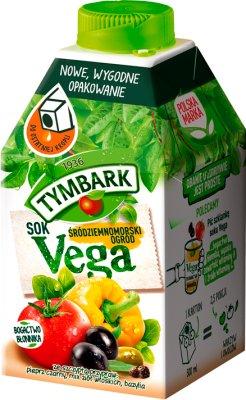 Vega- mediterranen Garten Gemüsesaft und Obst