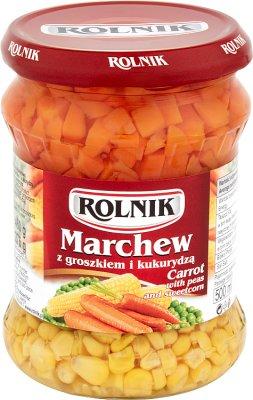Rolnik Marchew z groszkiem i kukurydzą