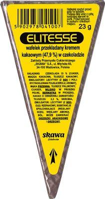 Elitesse Wafelek przekładany kremem kakaowym w czekoladzie
