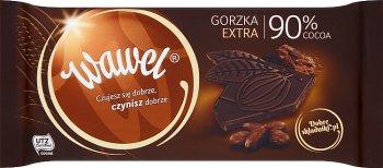 Wawel foncé 90 % de chocolat noir 100 g