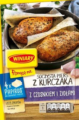 Winiary Pomysł na... Soczystą pierś kurczaka z czosnkiem i ziołami Papirus
