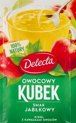 Delecta Owocowy kubek Kisiel smak zielone jabłuszko