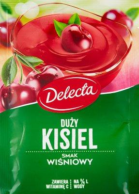 Delecta Duży kisiel smak wiśniowy