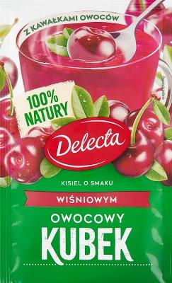 Delecta Owocowy kubek Kisiel smak wiśniowy