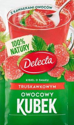 Delecta Owocowy kubek Kisiel smak truskawkowy