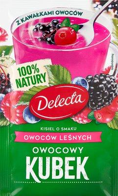 Delecta Owocowy kubek Kisiel smak owoce leśne