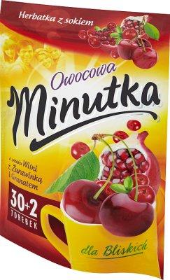 Minutka Owocowa Herbatka owocowa o smaku wiśni z żurawinką i granatem