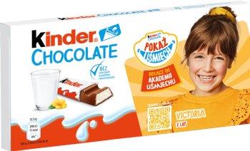 Kinder Barras de chocolate de chocolate con leche con un relleno lácteo