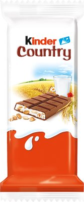 Land Milchschokolade gefüllt mit Milch und Getreide