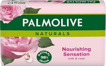 Palmolive Naturals Nourishing Sensation mydło w kostce z ekstraktami z mleka i płatków róży