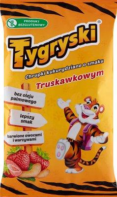 Tygryski chrupki kukurydziane o smaku truskawkowym