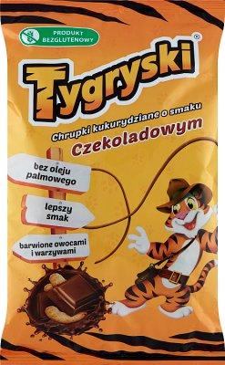 Tygryski chrupki kukurydziane o smaku czekoladowym
