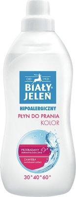 Biały jeleń hipoalergiczny płyn do prania tkanin kolorowych