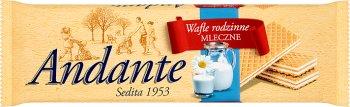 Andante wafle przekładane kremem o smaku mlecznym Familijne