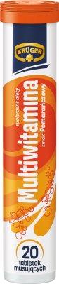 tabletas efervescentes multivitamínicos con el sabor de la naranja