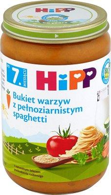 HIPP Bukiet warzyw z pełnoziarnistym Spaghetti