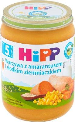 Warzywa z amarantusem i słodkim ziemniaczkiem BIO