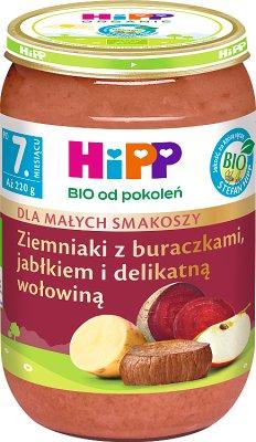 HiPP Ziemniaki z buraczkami, jabłkiem i delikatną wołowiną BIO