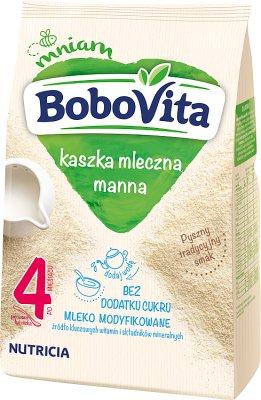 BoboVita kaszka mleczna manna bez dodatku cukru